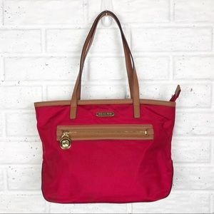 MICHAEL KORS Red Nylon Tote